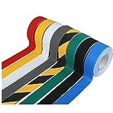 COCOTER 滑り止め ノンスリップ テープ ( 黄黒 青 赤 黄 黒 灰 白) 防水 剥離紙式 屋内 屋外 50mm×5m ロール (ブルー)