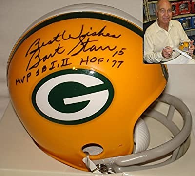 Bart Starr Signed / Autographed Green Bay Packers Mini Football Helmet - JSA