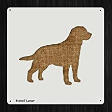 Labrador Retriever Dog Style 505 DIY Plastic Stencil Acrylic Mylar Reusable