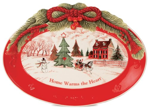 Home Warms The Heart Collection, Holiday Sentiment Tray (Christmas Tray compare prices)