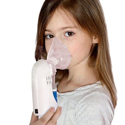 KingMansion Handheld Steam Inhaler / Portable Steam Vaporizer / Personal Cool Mist Inhaler/ Ultrasonic Aromatherapy Essential Oil Humidifier With 2 Masks (Personal Steam Inhaler compare prices)