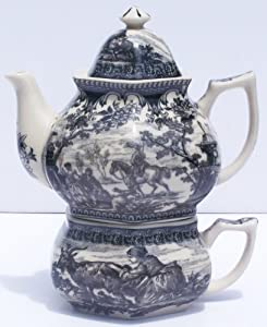 Tea for One Black French Toile