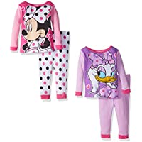 Disney Girls' Minnie Mouse 4-Piece Pajama Set (18 or 12 Months)