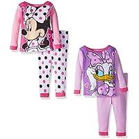 Disney Girls' Minnie Mouse 4-Piece Pajama Set (18 or 12 Months)