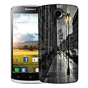 Snoogg Night At Street Designer Protective Phone Back Case Cover For Lenovo S920