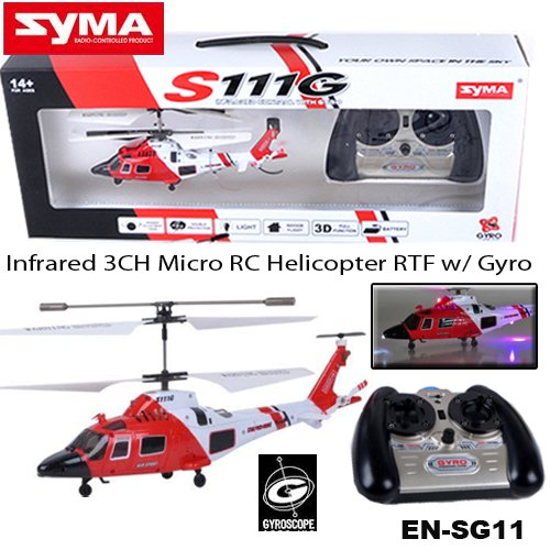 Syma S111G 35 Channel RC Helicopter with Gyro