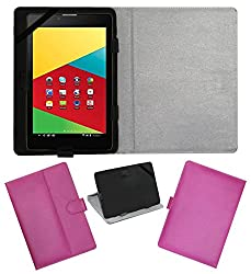 Acm Leather Flip Flap Carry Case For Mercury Mstar 830g Tablet Holder Stand Cover Pink