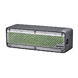 Urban Beatz TYPHOON Rugged Water Resistant Wireless Bluetooth Speaker. Shock Resistant and Weatherproof Outdoor Wireless Speaker. Built-in Microphone, Playback & Volume controls, and 7 Hour Battery. Grey/Silver - UB-SPB34-103
