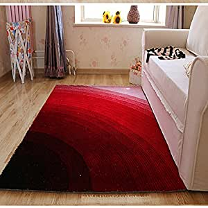 Ustide modern area carpet home decor rainbow for Living room rugs amazon