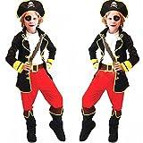 (レブール)ハロウィンコスプレ衣装子供海賊服キッズ衣装・6点セット (XL)