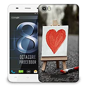 Snoogg Painted Heart Designer Protective Phone Back Case Cover For LAVA IRIS X8