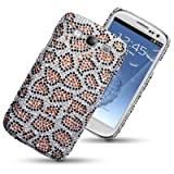 SAMSUNG GALAXY S3 SIII LEOPARD SPOTTED DIAMANTE DISCO BLING BACK COVER BY CELLAPOD CASESby CELLAPOD