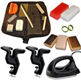 Super Dual Snowboard Ski Everything Kit Vise Iron Tools Wax +More by RaceWax