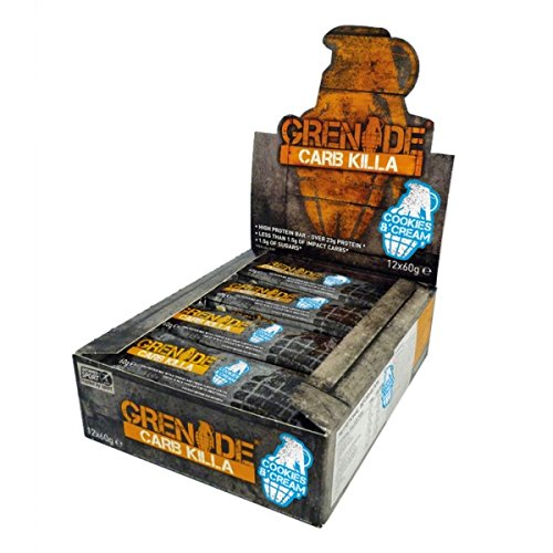 If you're looking for a high-protein bar with a flavour that you can actually enjoy then Carb Killa by Grenade is the one for you! Each bar contains 23g of protein and is only 200 calories. There is only 1g of sugar in the bar and yet it still tastes fantastic.  The flavour available is Chocolate Caramel, and these really are a great snack for you to have between meals, as a pre or post workout snack, or as a dessert.  Grenade have built themselves a great reputation as a sports supplement company, with their innovative products and with packaging that is unique to them.   If you struggle with cravings whilst dieting, or can't hit your recommended protein levels then Grenade Carb Killa bars are an excellent choice!