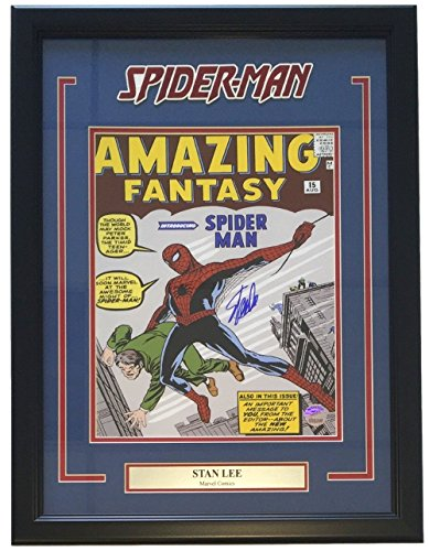 Stan Lee Marvel Signed Framed 11x14 Amazing Spiderman Cover Photo Lee Hologram (Marvel Signed Framed compare prices)
