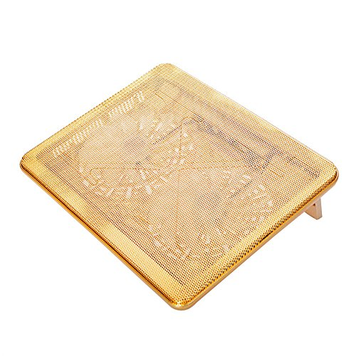 Check Out This 17inch Stand Silent for Notebooks Fan with Luxury Gold Color Laptop Cooling Pads