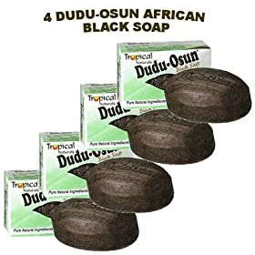 Dudu-Osun African Black Soap (100% Pure) Pack of 4