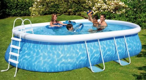 Friedola  12305 - Quick-Pool-Set Manhattan, 610 x 366 x 122 cm, blau