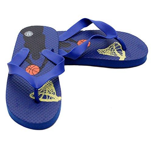 Little Boys Footwear Blue Basketball Flip Flop Sandal 11-2
