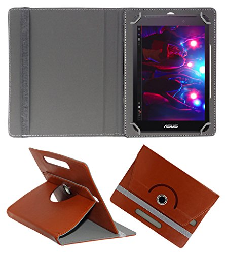 Acm Rotating 360° Leather Flip Case For Asus Fonepad 7 Fe170 Tablet Cover Stand Brown  available at amazon for Rs.149