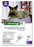 Advantage Topical Solution Flea Treatment for Cats Over 9 Pounds, 6 Applications