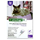 Advantage Topical Solution Flea Treatment for Cats Over 9 Pounds, 6 Applications ~ Advantage