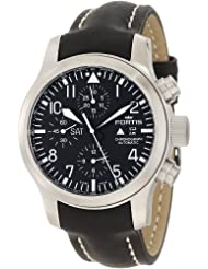 Fortis Men's 656.10.11L.01 B-42 Flieger Automatic Chronograph Black Dial Watch