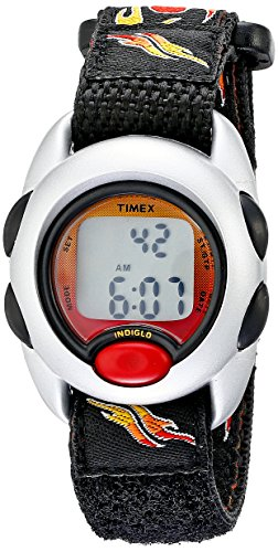 Timex Kids' T78751 'Digital Flames' Watch with Black Cloth Band
