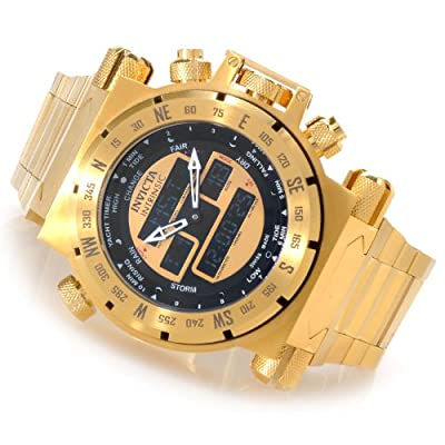 Invicta Men's 13080 Intrinsic Analog-Digital Display Swiss Quartz Gold Watch
