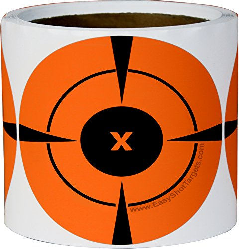200 Mega-Pack 4-Inch Target Stickers | Buy 1 Roll & Get 1 Free - Neon Orange Self-Adhesive Targets for Shooting | You Get 200 4-Inch Firearms Targets at the Lowest Price. (Bulk Gun Targets compare prices)