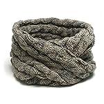 TRIBAL 品良く巻ける 大人カジュアルなスヌード ケーブル編みシンプルニットスヌード