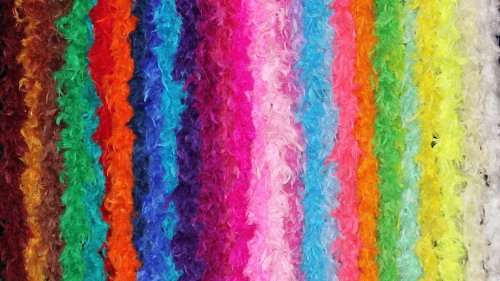 Over 35 Different Solid Color Boas by Cozy Glamour 6 Feet Long 50 Gram Weight