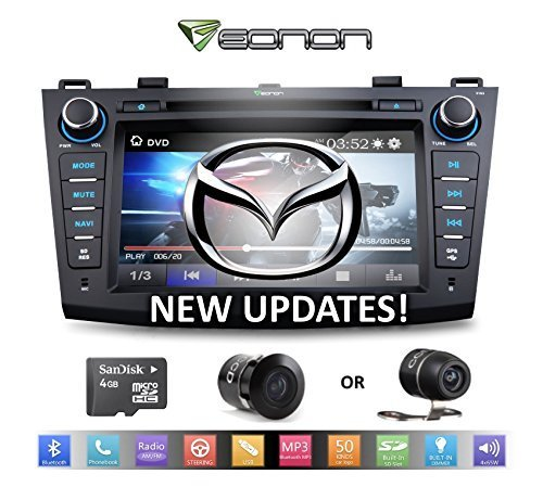 Eonon D5163Z for (2010-12) Mazda3 + Dual Mount Backup Camera -- Large 8-Inch LCD Touch screen - DVD Player - GPS Nav. (USA/Canada) + Bluetooth (Mazda3 Back Bumper compare prices)