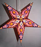 Hanging star lantern without lights - 5 point paper star