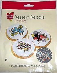 Dessert Decals By Cake Mate Skater BOY Edible Designs(2pack)