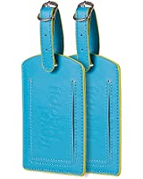 Luggage Tags. Set of 2. Highly Visible For Baggage. For Mr Mrs Kids. PU Leather.