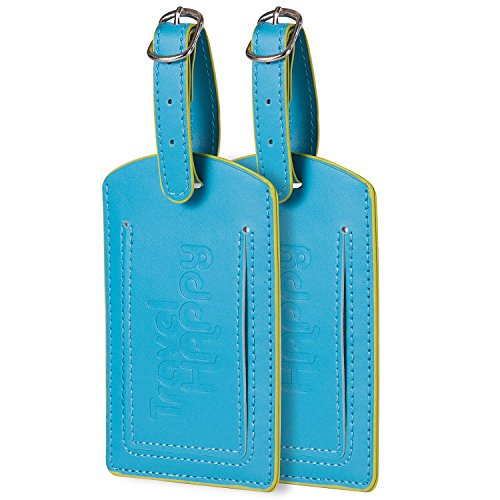 Luggage Tags. Set of 2. Highly Visible For Baggage.
