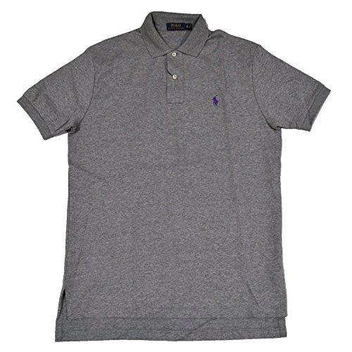 Ralph Lauren Men'S Polo Interlock T-Shirt Classic Fit (Large, Heather Grey)