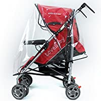 Tinksky Universal Pushchair Stroller Pram Buggy Transparent Rainproof Cover Rain Shade from Tinksky