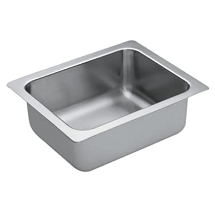 Moen G18440 1800 Series Single Bowl Undermount Sink, 18-Gauge, Stainless Steel
