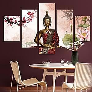 Buddha Painting Buda Canvas Wall Art Buddhism Home Decor Buda Cuadros