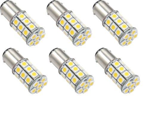 6 X Led Green Value Led 25006V-06 1076 Base Tower Led Replacement Bulb 250 Lum 8-30V Natural White