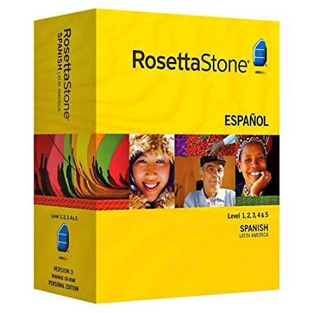 Rosetta Stone Spanish (Latin American) V3 Level 1,2,3,4,5 Set + Audio Companion
