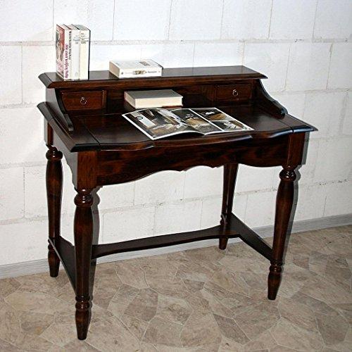 Italienischer-Sekretr-kolonial-Schreibtisch-Konsolentisch-Holz-massiv