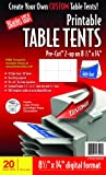 Blanks/USA Pre-Cut Printable Table Tents (CT602X9WH)