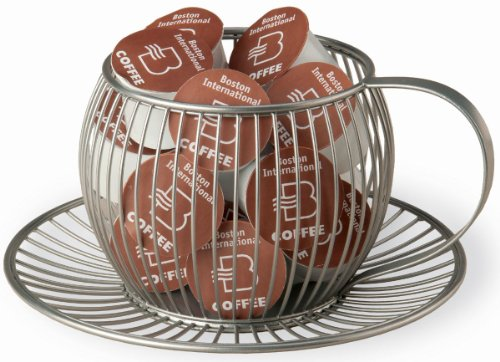 October Hill K-Cup Holder, Wire Cup and Saucer Cage