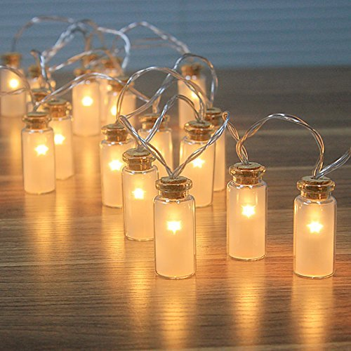 Dailyart - NEW - 8 Modes Vintage Glass Jar LED Fairy Lights With 20 Warm White LED-- Battery Operated (Waterproof IP44)