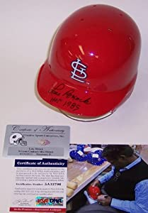 Lou Brock Autographed Hand Signed St. Louis Cardinals Mini Batting Helmet - with HOF... by Creative+Sports