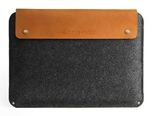 Mujjo Originals MJ-0209 Sleeve für MacBook Pro 13 grau/braun