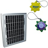 HQRP 6W Mono-crystalline Solar Panel 6 Watt (Size of 5 Watt / 5W) 12 Volt in Anodized Aluminum Frame 10 Years Limited Power Warranty